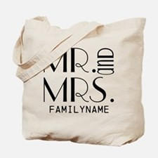 Personalized Mr. Mrs. Tote Bag