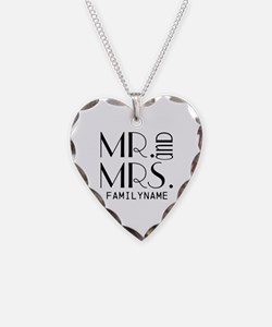 Personalized Mr. Mrs. Necklace