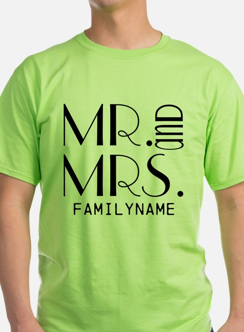 Personalized Mr. Mrs. T-Shirt