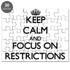 Keep Calm and focus on Restrictions Puzzle