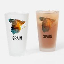 Polygon Mosaic Map of Spain Drinking Glass