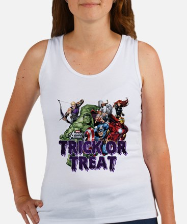 Avengers Assemble Trick or Treat Women's Tank Top