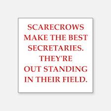 "secretaries Square Sticker 3"" x 3"""