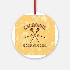 Lacrosse Coach Steampunk Ornament (round)