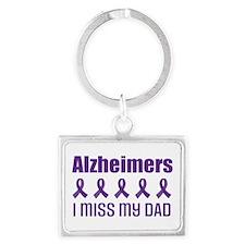 Alzheimers I Miss My Dad Keychains