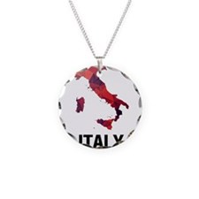 Polygon Mosaic Map of Italy Necklace