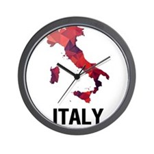 Polygon Mosaic Map of Italy Wall Clock