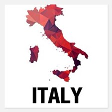 Polygon Mosaic Map of Italy Invitations