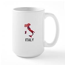 Polygon Mosaic Map of Italy Mugs