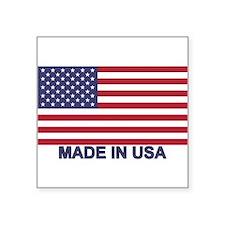 """Cute Made in america Square Sticker 3"""" x 3"""""""
