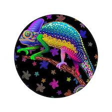 "Chameleon Fantasy Rainbow 3.5"" Button"