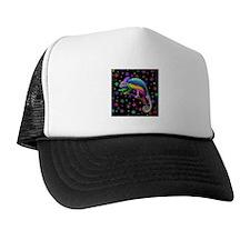 Chameleon Fantasy Rainbow Trucker Hat
