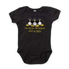 One by One the Penguins Baby Bodysuit