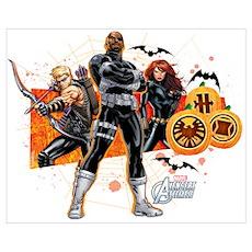 Avengers Assemble Halloween 5 Wall Art Poster