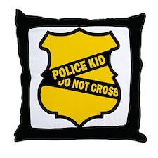 Police Kid Do Not Cross Throw Pillow