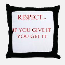 MUTUAL RESPECT Throw Pillow