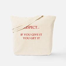 MUTUAL RESPECT Tote Bag