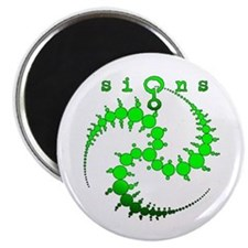 Spiral Crop Circle Green Magnet