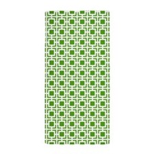 Green Geometric Lattice Pattern Beach Towel