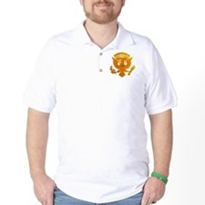 Vintage Gold Presidential Seal T-Shirt