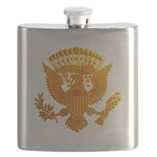 Vintage Gold Presidential Seal Flask