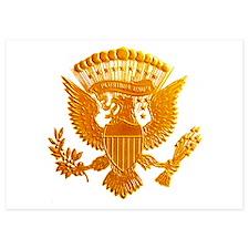 Vintage Gold Presidential Seal Invitations
