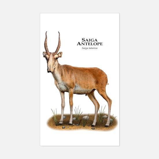 Saiga Antelope Sticker (Rectangle)