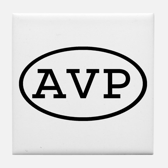 AVP Oval Tile Coaster
