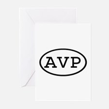 AVP Oval Greeting Cards (Pk of 10)