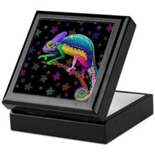 Chameleon Fantasy Rainbow Keepsake Box