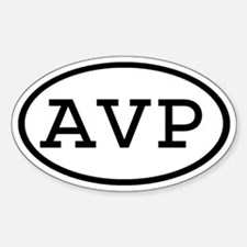 AVP Oval Oval Decal