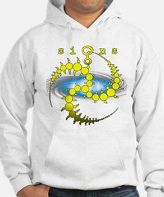 Solar System Crop Circle Yellow Hoodie