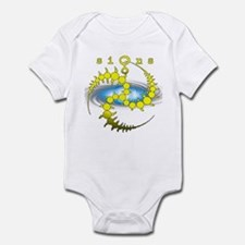 Solar System Crop Circle Yellow Infant Bodysuit