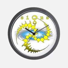 Solar System Crop Circle Yellow Wall Clock