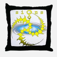 Solar System Crop Circle Yellow Throw Pillow