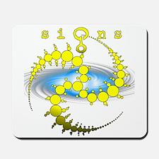 Solar System Crop Circle Yellow Mousepad