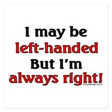 Left-Handed Funny Saying Invitations