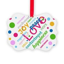 Positive Thinking Text Picture Ornament