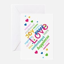 Positive Thinking Text Greeting Cards (Pk of 20)