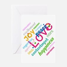 Positive Thinking Text Greeting Card