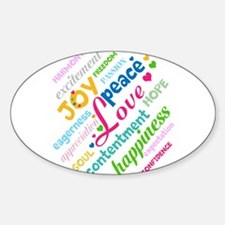 Positive Thinking Text Sticker (Oval)