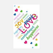Positive Thinking Text Sticker (Rectangle 50 pk)