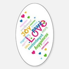 Positive Thinking Text Sticker (Oval 10 pk)