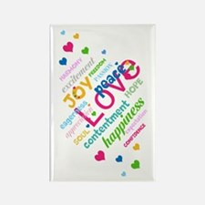 Positive Thinking Text Rectangle Magnet