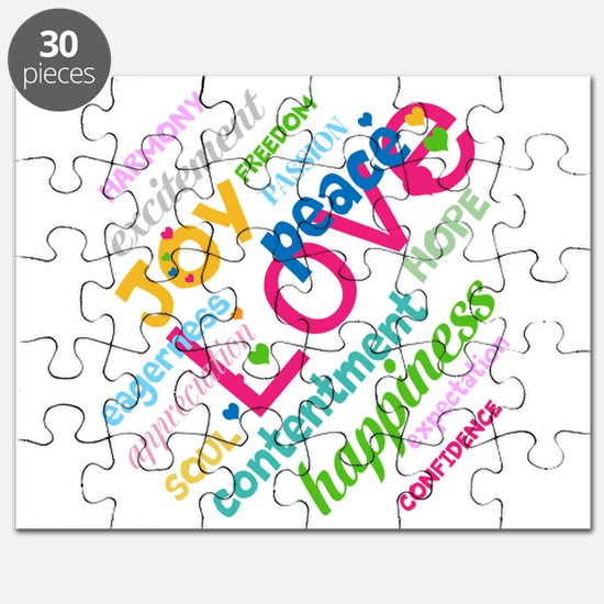 Positive Thinking Text Puzzle