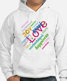 Positive Thinking Text Hoodie