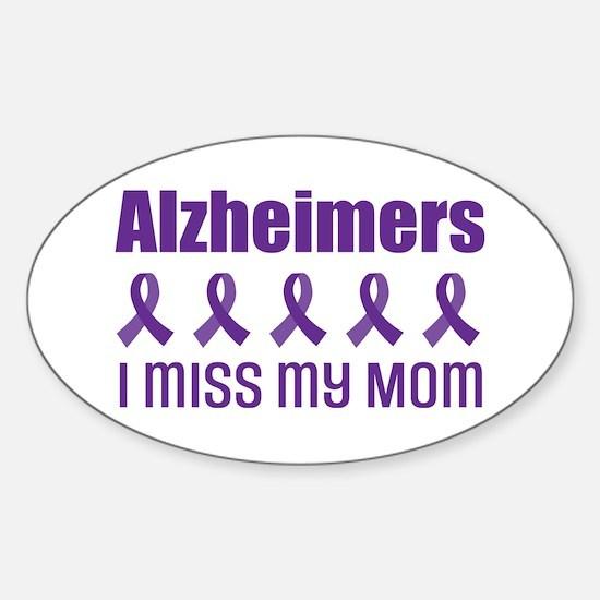 Alzheimers Mom Sticker (Oval)