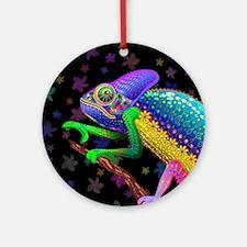 Chameleon Fantasy Rainbow Ornament (Round)