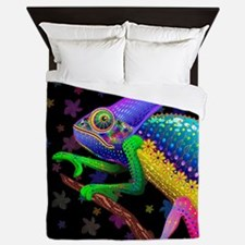 Chameleon Fantasy Rainbow Queen Duvet