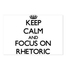 Keep Calm and focus on Rh Postcards (Package of 8)